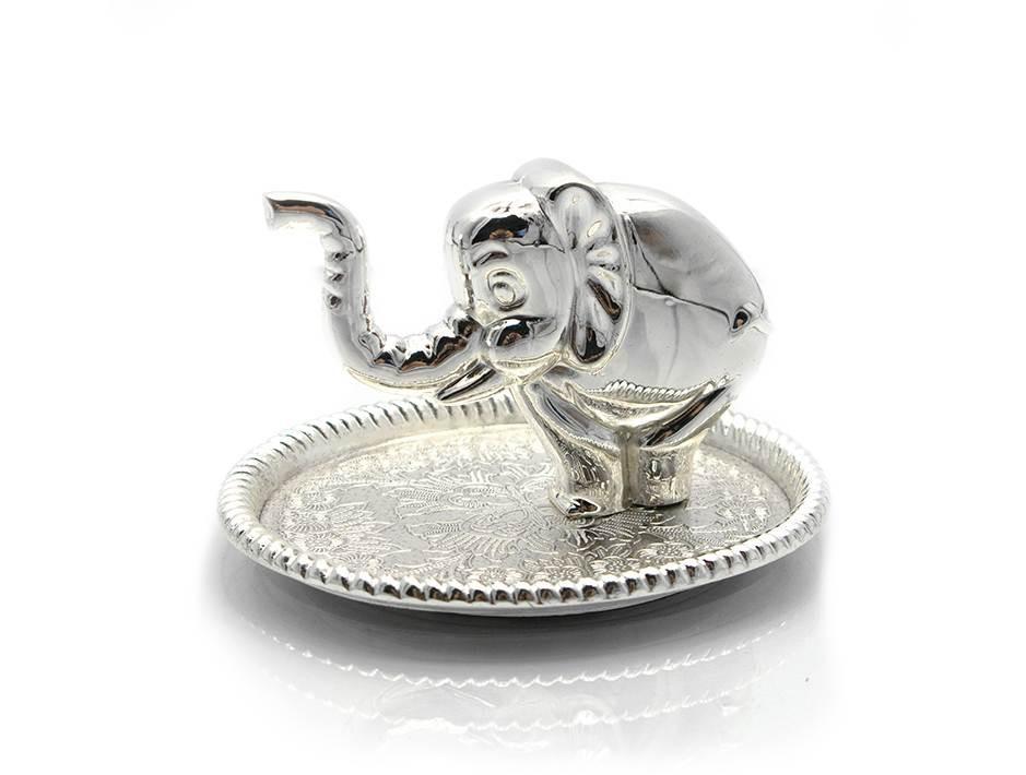 """Подставка под кольца """"слон"""" (9х5х7,5 см)(2579lq)""""серебро"""""""