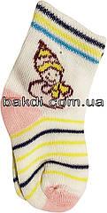 Дитячі шкарпетки літні легкі тонкі розмір 0 (0-2 міс.) трикотаж білий на дівчинку для новонароджених ТН-151Р