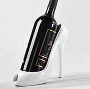 Креативная подставка держатель для вина в виде туфли на высоком каблуке, белый
