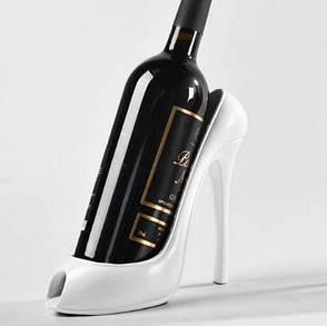 Креативная подставка держатель для вина в виде туфли на высоком каблуке, белый, фото 2
