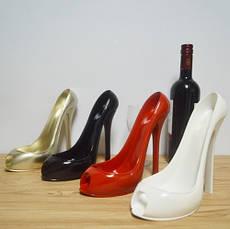 Креативная подставка держатель для вина в виде туфли на высоком каблуке, белый, фото 3