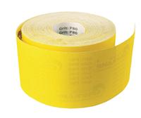 """Желтая шлифовальная  шкурка """"Бригадир Standart""""  бумажной основе   ширина  115мм, длинна  50м  Р360"""