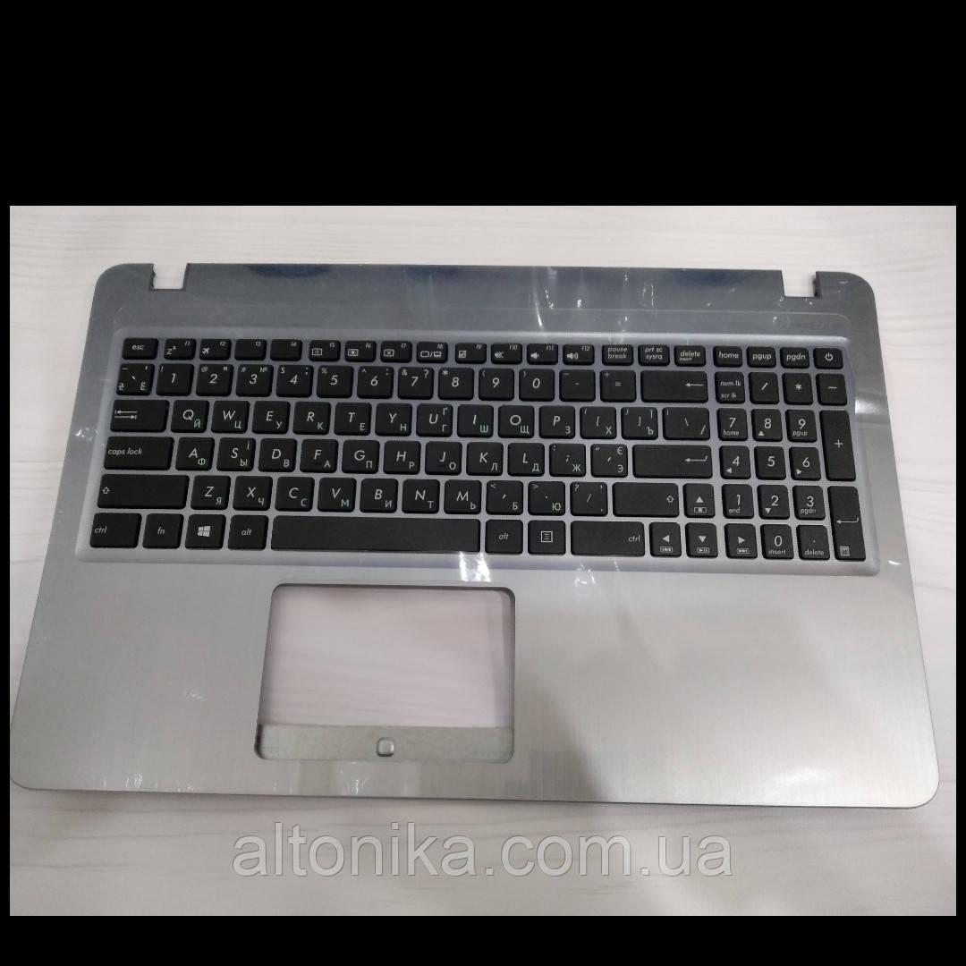 Клавиатура с Топ-кейсом для ноутбука Asus R540R540SA X540 X540UB X540BA(ORIGINAL) Grey