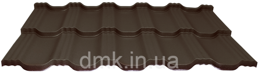 Модульна черепиця EGERIA SSAB 35/350 Mat 887 крупнозернистий шоколад