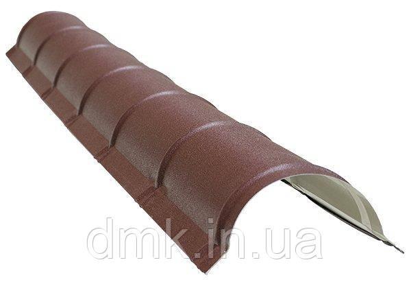Гребінь круглий малий SSAB 2000мм  Mat 887 крупнозернистий шоколад