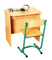 Стол ученический для лингафонного кабинета, одноместный (80370)