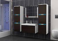 Комплект мебели в ванную комнату LUMIA корпус белый/фасад венге матовый