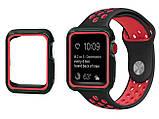 Силиконовый защитный корпус Primo для Apple Watch 40mm - Black / Red, фото 3