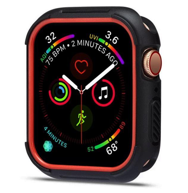 Силиконовый защитный корпус Primo для Apple Watch 40mm - Black / Red