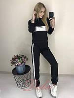Женский спортивный костюм со вставкой кожи 42-44,46-48