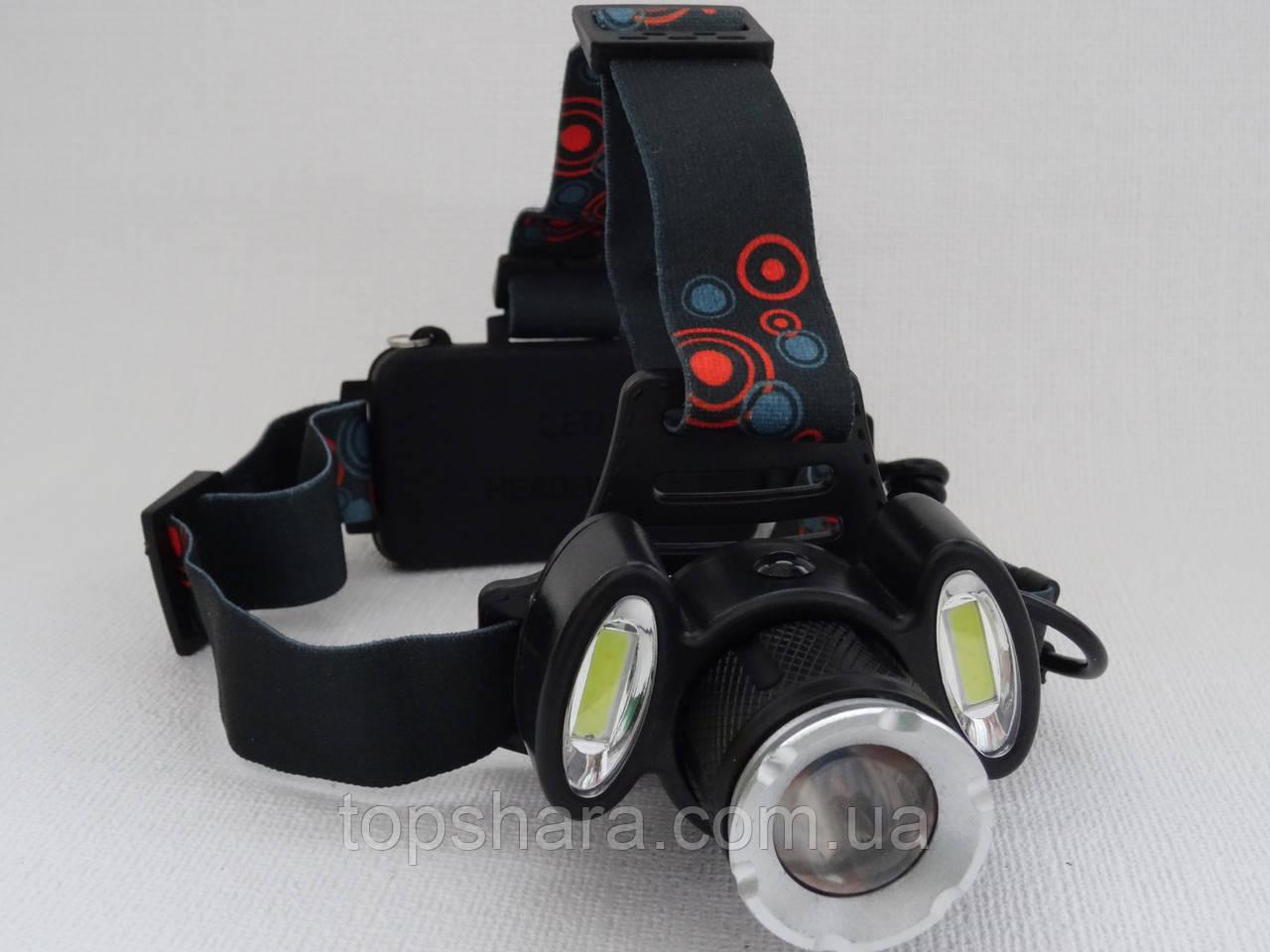 Фонарь налобный Bailong BL-C866-T6 Gree 80000W Black