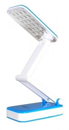 Настольная светодиодная лампа трансформер Tiross TS-55 Blue аккумуляторная 800 mAh, 220v, 24 smd LED