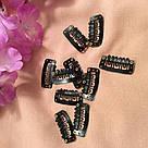Клипсы Lady Victory черная металлические для наращивания волос на трессах, крепления прядей, фото 9
