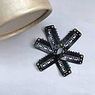 Клипсы Lady Victory черная металлические для наращивания волос на трессах, крепления прядей, фото 10