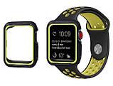 Силиконовый защитный корпус Primo для Apple Watch 44 mm - Black / Green, фото 3