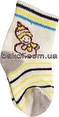 Дитячі шкарпетки літні легкі тонкі розмір 0 (0-2 міс.) трикотаж білий на хлопчика для новонароджених ТН-151С