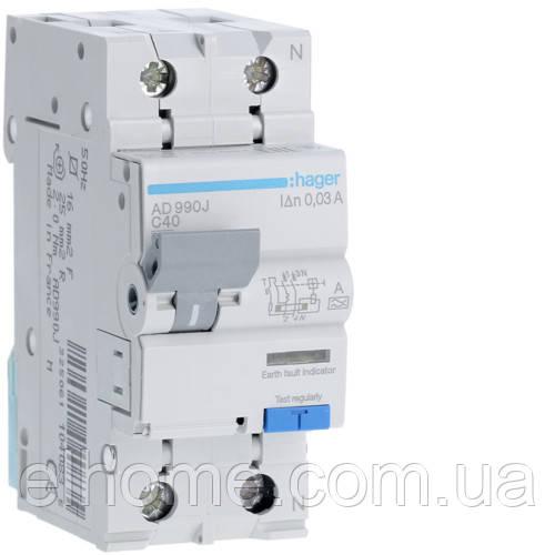 Диференційний автоматичний вимикач 1P+N 6kA C-40A 30mA A