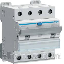 Диференційний автоматичний вимикач 4P 6kA C-6A 30mA A