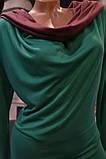 Платье - туника  с капюшоном трикотажное изумруд, фото 4