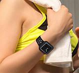 Силиконовый защитный корпус Primo для Apple Watch 44 mm - Black / White, фото 4