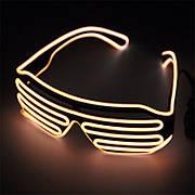 Светодиодные Led El очки светящиеся очки для вечеринок, пати. Желтые