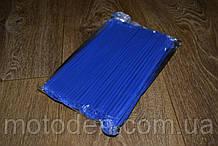 Накладки на спицы для мотоцикла / велосипеда 72шт (для переднего и заднего колеса) 24см Синие
