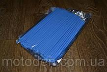 Накладки на спиці для мотоцикла / велосипеда 72шт (для переднього і заднього колеса) 24см Блакитні
