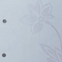 Готовые рулонные шторы Ткань Флаверс Белый