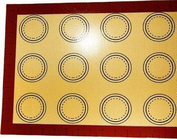 Силиконовый коврик с разметкой 30*40 см, 12 изделий