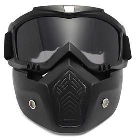 Мотоциклетная маска очки, лыжная маска, для катания на велосипеде или квадроцикле (затемненная)