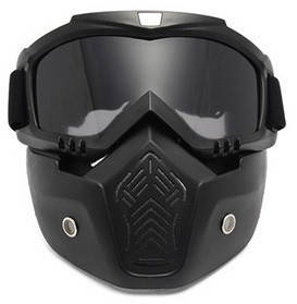 Мотоциклетная маска очки, лыжная маска, для катания на велосипеде или квадроцикле (затемненная), фото 2
