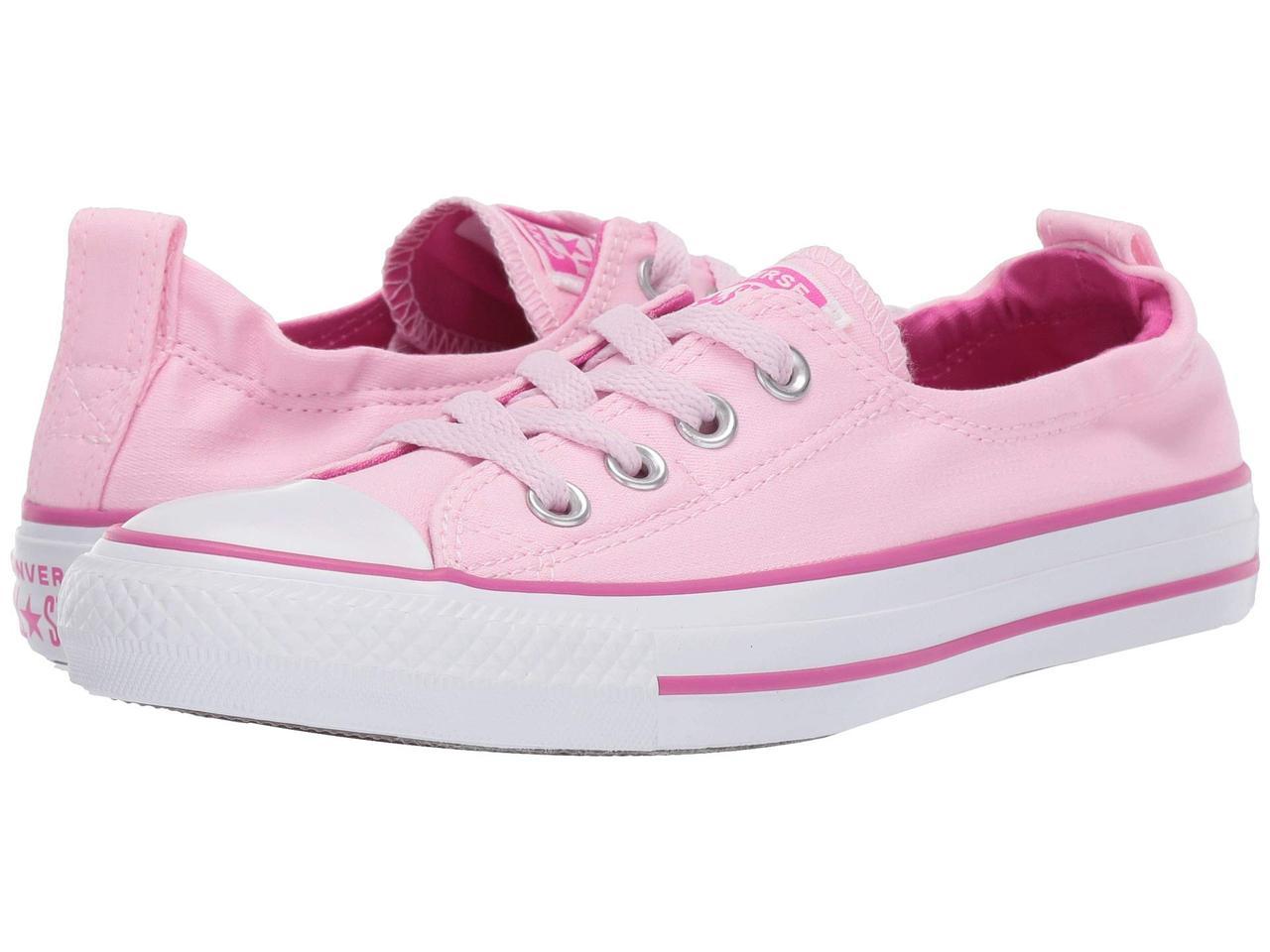 0cf66978852 Кроссовки Кеды (Оригинал) Converse Chuck Taylor® All Star® Shoreline  Slip-On Pink Foam Active Fuchsia White