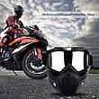Мотоциклетная маска очки, лыжная маска, для катания на велосипеде или квадроцикле (серебристая), фото 5