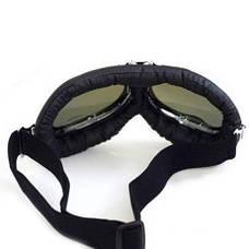 Новые велосипедные, мотоциклетные очки Ретро Винтаж Авиатор защитные Silver, фото 3