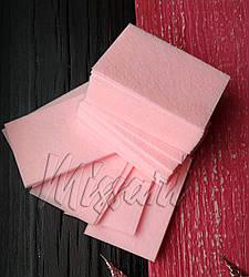 Безворсовые салфетки розовые 100 шт