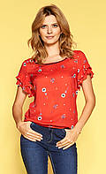 Zaps блуза Hulda красного цвета, коллекция весна-лето 2019.