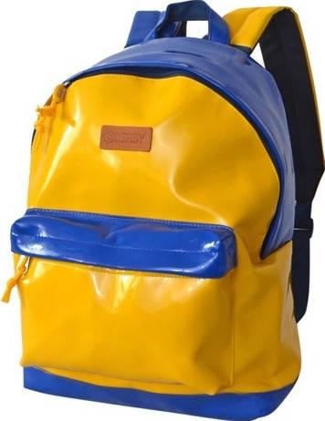 """Патриотический городской рюкзак из искусственной кожи для ноутбука 14,1"""", 20 л. Derby 0100599.99 желтый"""