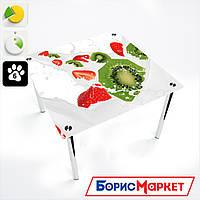 Обеденный стол стеклянный (фотопечать) Квадратный   Fruit&Milk от БЦ-Стол