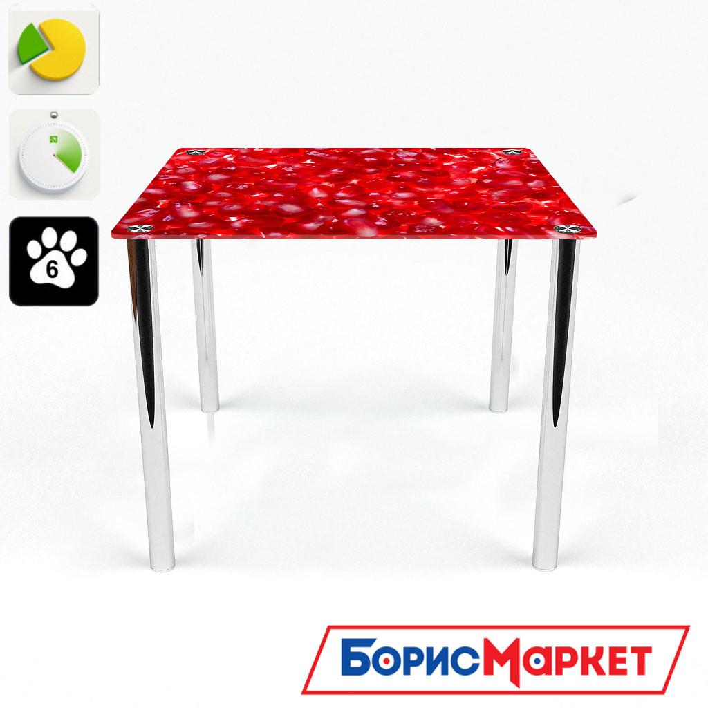Обеденный стол стеклянный (фотопечать) Квадратный  Garnet от БЦ-Стол
