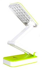 Настольная светодиодная лампа трансформер Tiross TS-55 Green аккумуляторная 800 mAh, 220v, 24 smd LED