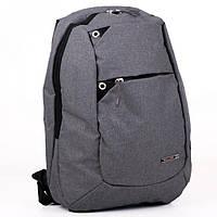Удобный серый рюкзак с отделом для ноутбука Wallaby арт. W150Grey