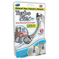 Насадка на кран Turbo Flex 360, шланг аэратор для смесителя, распылитель для экономии воды, экономайзер воды, фото 1
