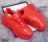 Кроссовки красные спорт 1664 c01ceb06109