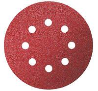 Шлифовальный круг на липучке, Bosch K180 125 мм, 8 отв. Best for Wood (50 шт)