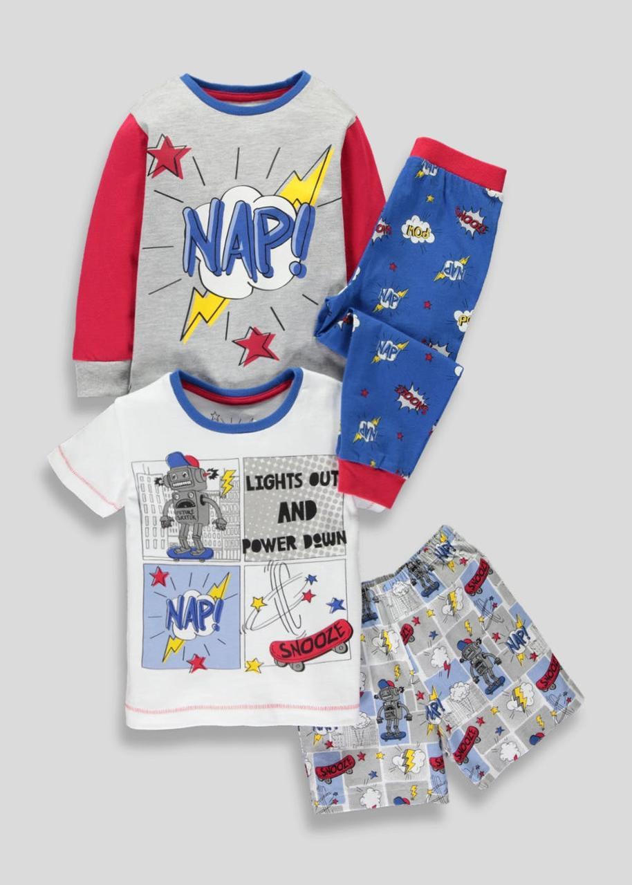 Детские пижамы для мальчика набором Matalan Англия Размер 104-110