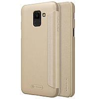 Кожаный чехол (книжка) Nillkin Sparkle Series для смартфона Samsung J600F Galaxy J6 (2018)