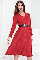 13c454f9e73 Вельветовое ретро платье. Цвет насыщенный красный.