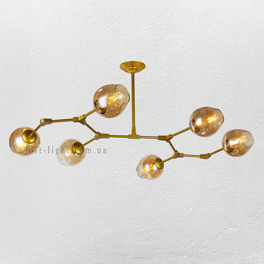Люстра молекула  56-LPR0231-6 GD+BR