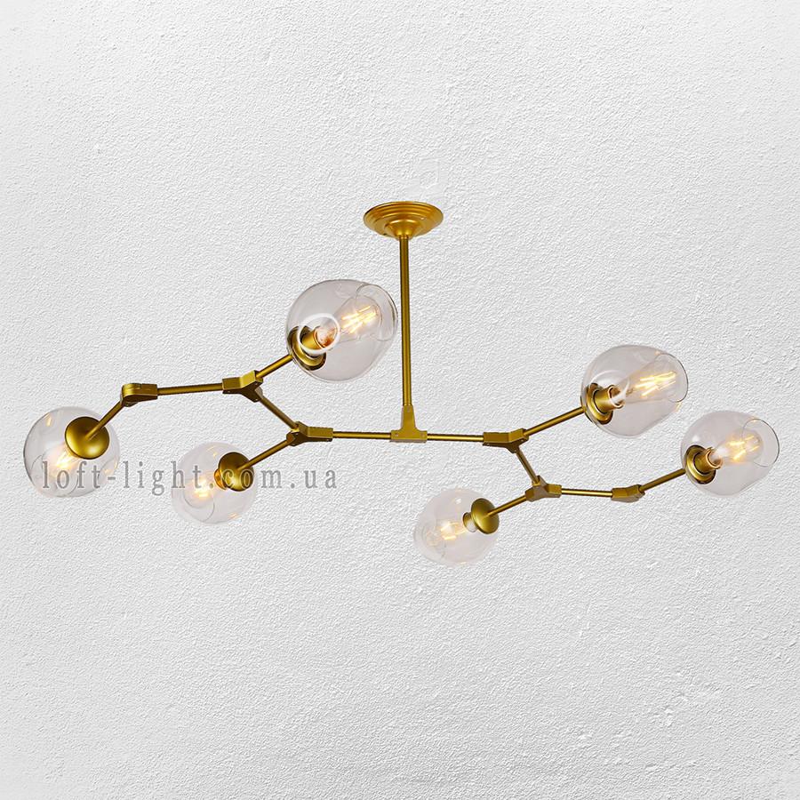 Люстра молекула  56-LPR0231-6 GD+CL