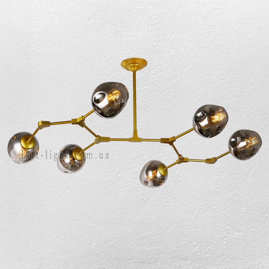 Люстра молекула   56-LPR0231-6 GD+BК